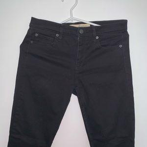 Gap black mid rise jeans